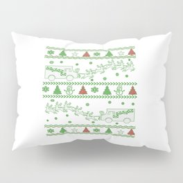 Postal Worker Christmas Pillow Sham