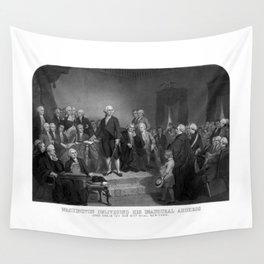 Washington Delivering His Inaugural Address Wall Tapestry