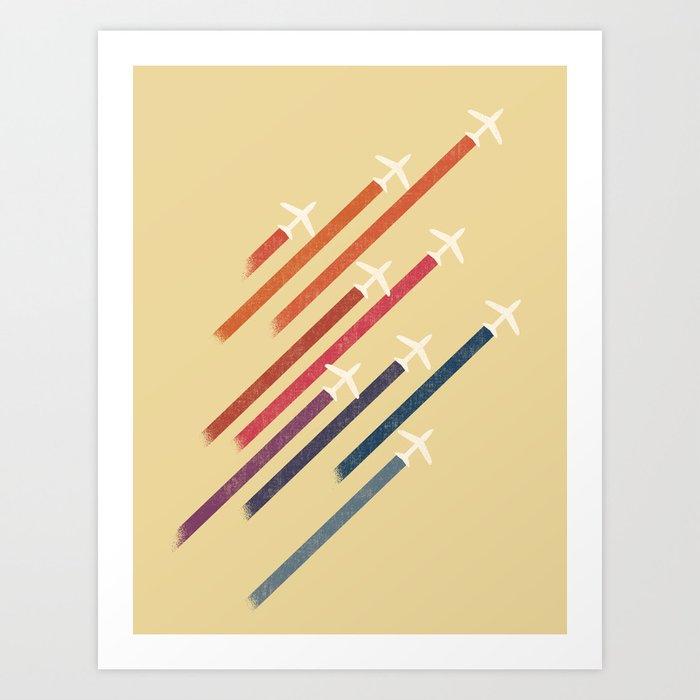 Aerial display (ver.2) Art Print
