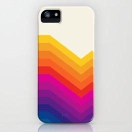 Seventies rainbow stripes iPhone Case
