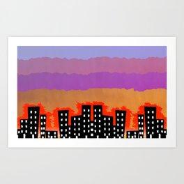 Sunset on the City Art Print