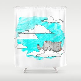 Sky Cat Shower Curtain