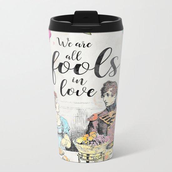 Pride and Prejudice - Fools in Love Metal Travel Mug