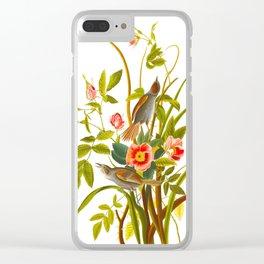 Seaside Finch Bird Clear iPhone Case