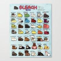 bleach Canvas Prints featuring BLEACH Cats by Maou Mao XD