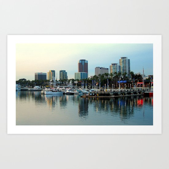 A Slice of Long Beach, CA Art Print