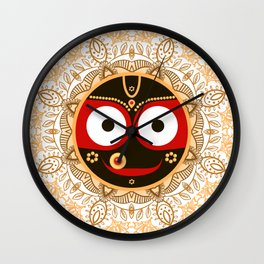 Jagannath. Indian God of the Universe. Lord Jagannatha. Wall Clock