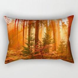 Forest Scene Rectangular Pillow