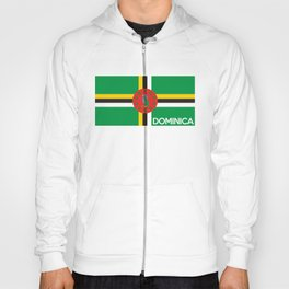 Dominica country flag name text Hoody