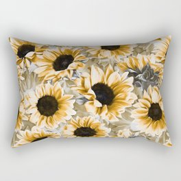 Dreamy Autumn Sunflowers Rectangular Pillow