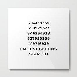 Funny Pi Numbers Metal Print