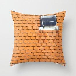 Tiled Roof After Summer Rain Throw Pillow