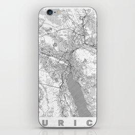 Zurich Map Line iPhone Skin