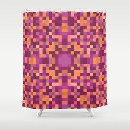 ARABESQUE peach pink purple geometric symmetrical pattern Shower Curtain