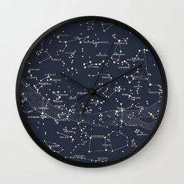 Carte du Ciel I Wall Clock
