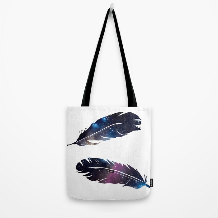Galaxy feather Tote Bag