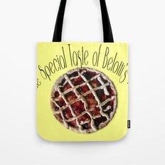 The special taste of Belotti's pie Tote Bag