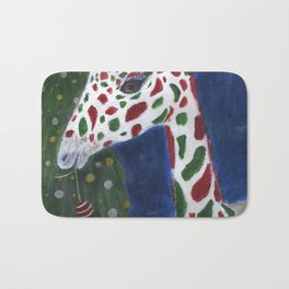 Christmas Giraffe Bath Mat