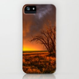 Fascinations - Warm Light and Rumbles of Thunder in Oklahoma iPhone Case