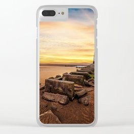 Lighthouse Sunset Wales Clear iPhone Case
