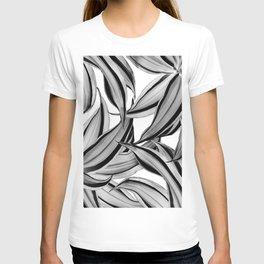Dracaena Tropical Leaves Pattern Black & White #2 #tropical #decor #art #society6 T-shirt
