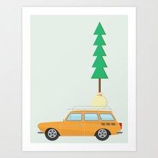 Modern day lumberjack Art Print