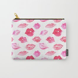 Watercolor pink lips pattern Carry-All Pouch
