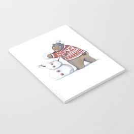 Bear with snowman Notebook