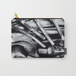 Machine Part BNW Abstract III Poster Print Carry-All Pouch