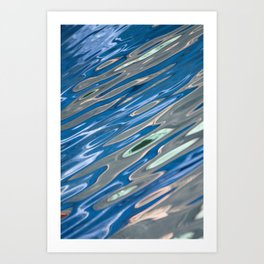 Abstract Blue and Grey Art Print