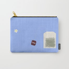 Teatime on Blue Carry-All Pouch