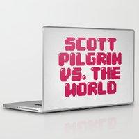 scott pilgrim Laptop & iPad Skins featuring Scott Pilgrim vs. The World by Martin Lucas