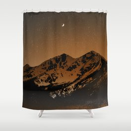 Mountains at night series III // Boulder CO Shower Curtain