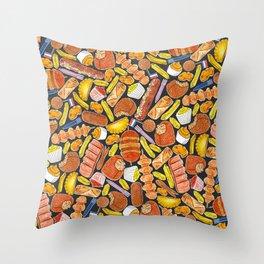 Ode to the Dutch Snacks by Veronique de Jong Throw Pillow