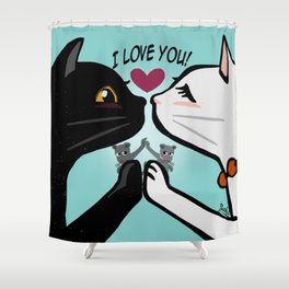 Love you cats Shower Curtain
