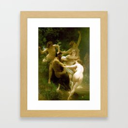 Adolphe William Bouguereau  -  Nymphes Et Satyre Framed Art Print