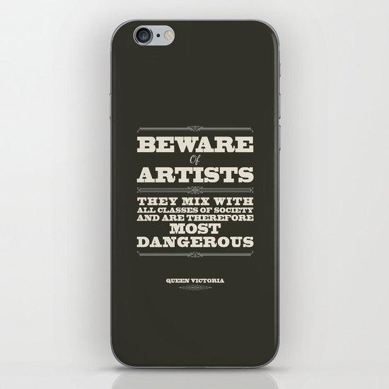 Beware of Artists iPhone & iPod Skin