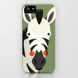 Zebra, Animal Portrait iPhone Case