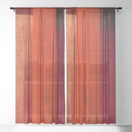 Red Towers Sheer Curtain