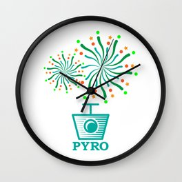 Pyro New Year Retro Pyro Tec Stage Crew Gifts Wall Clock