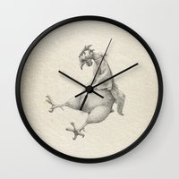 rooster Wall Clocks featuring Rooster by Aleks Klepnev