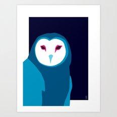 Open Hoot Owl Art Print