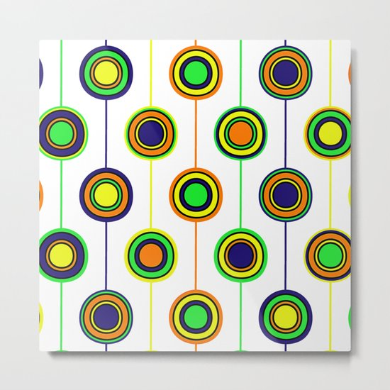 Circles of color Metal Print