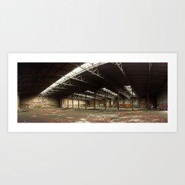 Locomotive depot Art Print
