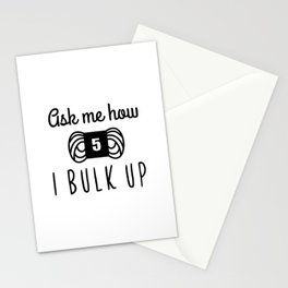 bulk up bro funny yarn knit crochet Stationery Cards