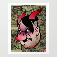 devil Art Prints featuring Devil by Beery Method
