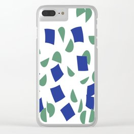 scatter geometric brush blue gray Clear iPhone Case