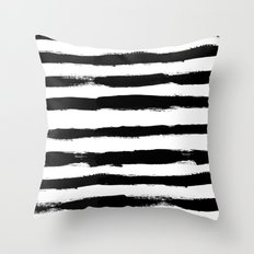 Black Stripe Pattern Throw Pillow
