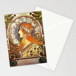 Alphonse Mucha La Plume Zodiac Stationery Cards