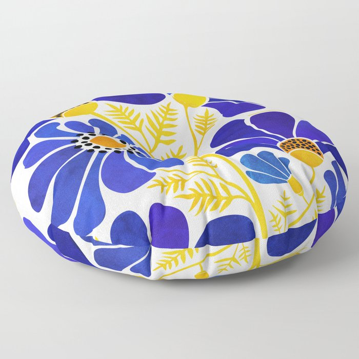 The Happiest Flowers Floor Pillow